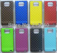 Free Shipping! High Quality Plating Bling Star Crystal Diamond Rhinestone Hard Back Case for Samsung Galaxy S2 i9100, SAM-089