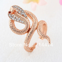 Hot sale Rose gold plated Cobra rings .one piece is ok