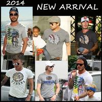 2014 New Retail CALIFORNIA TEE shirts men fashion TShirts PEDIDO CAMISETAS brasil T-Shirts male t shirts blouses short sleeve 2S