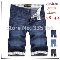 British Style Men/Male Jean Shorts Black/Blue Color,   Slim Water Wash Jeans Denim Leisure Shorts 28--40 Plus Size   #JM09511