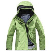 Spring and Autumn Camping Hiking Women Jacket Outdoor jacket Sportswear Hooded Plus Velvet Waterproof Outerwear