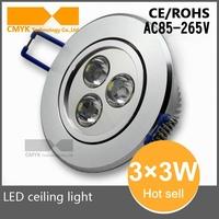 9W LED Down Light Warm White Cool White AC85-265V Down Lamp LED Ceiling light Spotlight Indoor Home Lighting