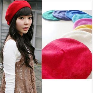 2013 Дамы моды, с мода милый шляпу DM12029A подражали шерсти шлем берета художник ...
