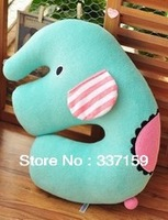 Free shipping stuffed elephant U shape seat pillow/ car pillow/ cushion,decorative pillows, birthday/ Chistmas gift for girls