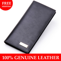 Borgasets 2014 New Genuine Leather Men Wallet Fashion Designer Purse Soft Cowskin Zipper Coin Wallet Free Shipping Wholesale