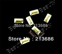 6Packs/Lot New 1000Pcs 2Colors Glitters Metal Studs Rhinestone Fashion 3D Rectangle Metal Nail Art Gems Decoration B_161 13838