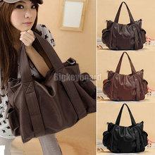 Fashion Womens Ladies Pockets Messenger Handbag Hobo Tote Shoulder Bag (bx11) 3 Color(China (Mainland))