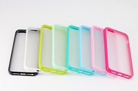 free shipping,High Quality TPU+PC Transparent edge for  iphone 5.1*case+1*screen protective film for iphone 5