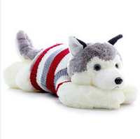 Hot sale 80 CM lovely husky dog doll plush toy children stuffed toys soft pillow best gift for birthday/Christmas