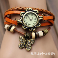 Free Shipping The European and American fashion students watch women tide restoring ancient ways bracelet watch female butterfly