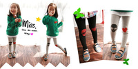 Free Shipping Children Autumn&Winter 100% Cotton Long Pants,Kids Leggings,Boys Pants,Girls' Causal Pants,Kids Tights,Retail.
