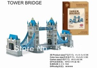 Free Shipping High quality 3D Puzzle of The Tower Bridge with 41pcs assembly for children gift