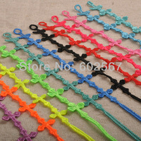Cute cross Italian Design top quality lace bracelet 24pcs/lot CR06 Italian design cute cross italy cute cross lace bracelet