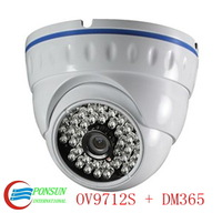HD 720P IP network dome Security Video surveillance CCTV Camera/ 30m infrared night vision/ POE Optional
