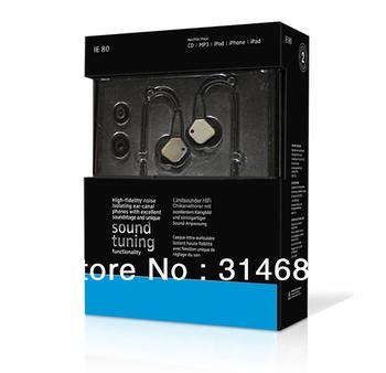 HiFi 3.5mm IE-80 In-Ear Stereo earphone (black) Free shipping