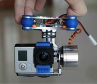 DJI Phantom Gopro 2 3 Metal Brushless Camera Gimbal w/Motors & Controller RTF
