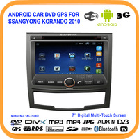 Android GPS system car dvd player For SSANGYONG KORANDO 2010 Car DVD with GPS,Bluetooth,WIFI+ USB 3G+DVR+Free 4GB Map