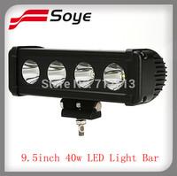 9.5'' Promotion 40w light bar /LED off road light bar LED FLOOD LIGHT Work Light 4WD BOAT UTE