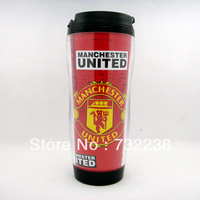 Free Shipping England Football Club  football fans 12 OZ  350ML Plastic Travel Mug Cup double Snap Lid Coffee Mug Cup