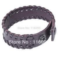 genuine wide leather wrap for man genuine leather man bracelet