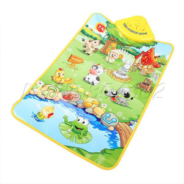 Multicolor Animal Farm Musical Music Touch Play Carpet Mat Blanket Kid Baby Toy(China (Mainland))