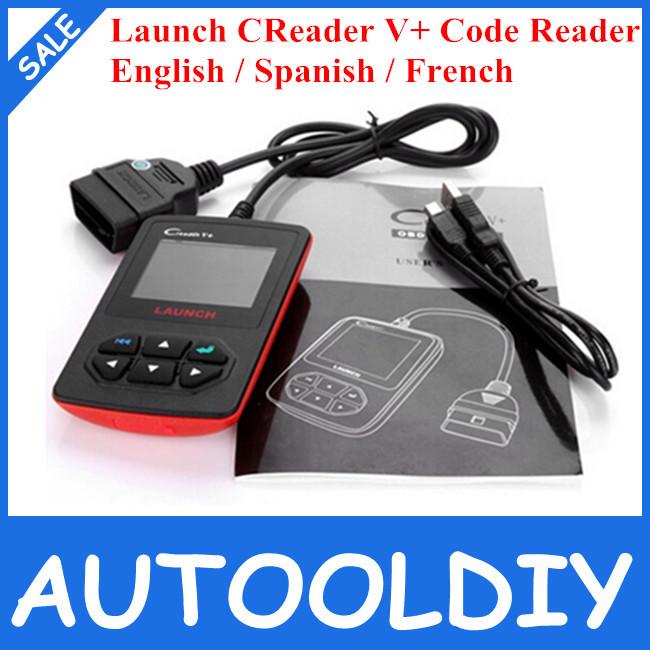 2014 New Release 100% Original Launch Creader V+ OBDII Code Scanner X431 CReader V PLUS Multi-language Creader V Free Shipping(China (Mainland))