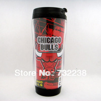 12 oz New Chicago Team LOGO Basketball Fans Double Wall Travel Office Coffee Mug Cup  gift