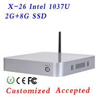 Network computer mini pc desktop computer with INTEL C1037U CPU mainboard/motherboard,Solid state drives 8gb,RAM 2gb
