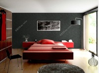 Modern PVC Black Stripe Wallpaper Roll HOT SELL 3D PVC Wall Panels Vintage Home Decoration