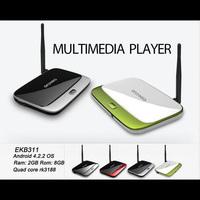CS918 Bluetooth Quad Core TV Box EKB311 Android 4.2.2 OS 2GB RAM 8GB ROM RK3188 Cortex A9 Quad Core Rk3188 Mini PC New MK888