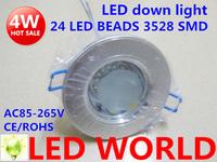 2015 new Led Ceiling down lamp 4w led downlights light,SMD3528,AC85-265v,Cool /Warm white,hole size:70-75mm Lighting led light