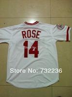 2013 Cincinnati Reds jersey 14 Pete Rose Throwback baseball Jersey size:48-56, mix order