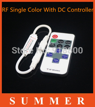 DC12V DC24V 96W Wireless LED Single Color Dimmer/LED Controller/Light Modulator with Remote Control & Free Shipping