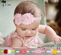 Headwear Free shipping (5pieces/lot)  new fashion  bicolour rose diamante  children accessories princess headbands JF0084