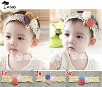 Headwears Free shipping (5pieces/lot) 2013 new fashion diamante 3 color balls children accessories baby girls headbands  JF0077