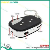 Mini 909 Car Keychain DVR Remote Key Car Key Hidden Camera Sound Control Video Micro DV 100Pcs/lot DHL Free Shipping