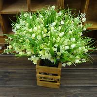 Free shipping Home fresh green flower, artificial flower, plastic artificial flower ,home decoration flower,wholesale 10pcs/lot