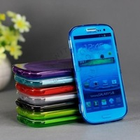 Wholesale High Quality Brand New Clear Case For Samsung Galaxy S3 i9300 Transparent Candy Color Clear Soft TPU Flip Cover