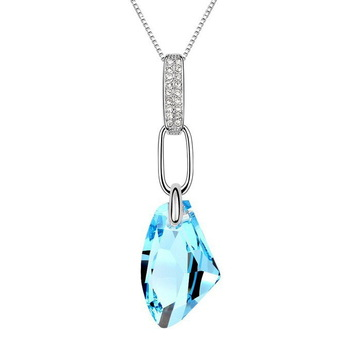 NICETER  2014 Fashion Genuine Austrian Crystal Necklaces & Pendats With 925 Sterling Silver For Women Accessories Jewelry N8110