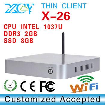 Thin computer mini linux computers XCY X-26 2GB RAM high performance