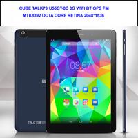 Cube U55GT-C8 Cube Talk79 octa core MTK8392 Cube talk 79 U55GT C8 7.85 Inch  Retina 2GB 16GB BT GPS FM 3G Phone Call Tablet PC