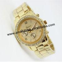 50pcs/lot,Women Rhinestone Watches Shiny Dress Watches Steel fashion Geneva Quartz Cheap Ladies Dress Wrist Watches