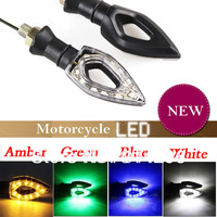 4pc/lot!!!  3 colors New free shuipping Universal Motorcycle Motorcycle 12-LED Turn Signal Indicators Lights Light Amber