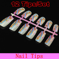 [16S-019]Nail Tips Pre Design Acrylic Art Manicure False 384 Styles,Random Send Out+Free Shipping