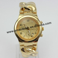 50pcs/lot, new 2013 cowboy chain watch fashion metel calendar watch with for man woman wristwatch.