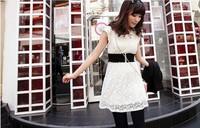 Free shipping  Women's fashion all-match lace decoration elastic wide cummerbund belt stra