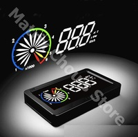 Universal Car HUD Head Up Display Speed, RPM, Water Temp, Fuel Consumption Speed, Throttle Angle, OBD2, OBDII Interface, EZ200