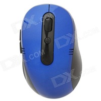 2.4GHz Wireless  800 / 1200 / 1600DPI Optical Mouse w/ Receiver - Black + Blue Free Shipping