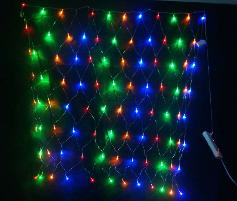 Waterproof 2M x2M Outdoor Flash Lamps String Decorative Lights LED Net Light For Marry Christmas ...