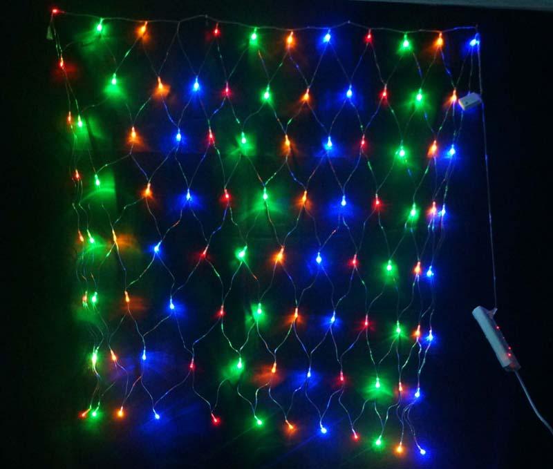 Waterproof 2M X2M Outdoor Flash Lamps String Decorative Lights LED Net Light